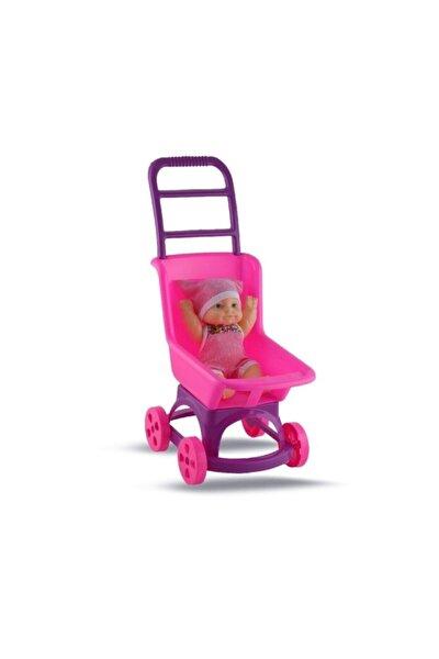 Kız Çocuk Pembe Pusette Oyuncak Et Bebek