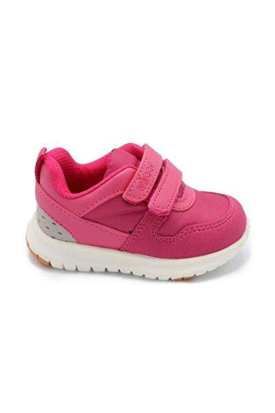 Kız Çocuk Pembe Solo Çift Cırtlı Spor Ayakkabı