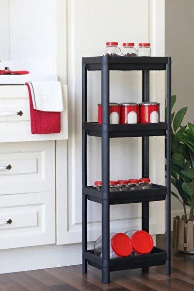 Ikea Vesken 3 Katlı Siyah Bölmeli Banyo Raf Düzenleyici