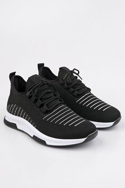 Kadın Siyah Çorap Sneaker Spor Ayakkabı Anoz