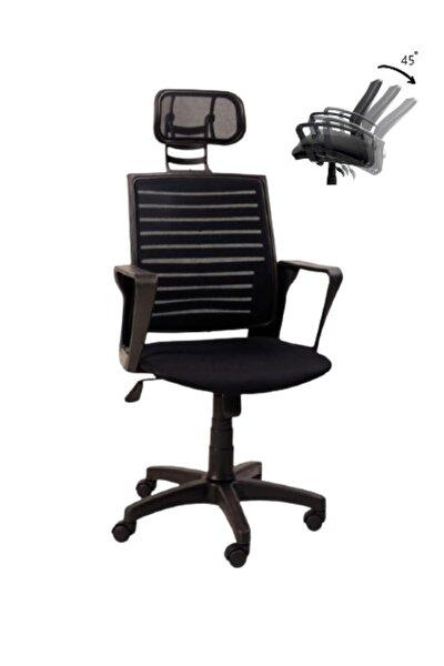 Başlıklı Ofis Çalışma Sandalyesi Bilgisayar Koltuğu