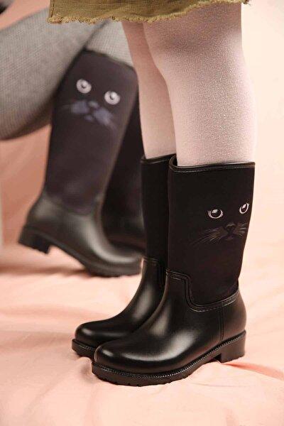 Çocuk Kedi Bıyıklı Yağmur Botu