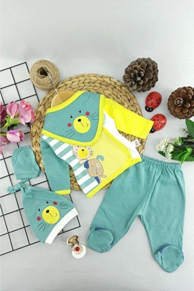 Bebek Yeşil Hastane Çıkışı Zıbın Set 5 li