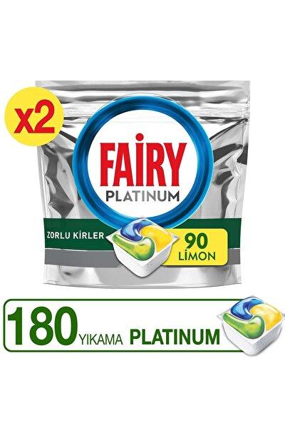 Platinum 180 Yıkama Bulaşık Makinesi Deterjanı Kapsülü Limon Kokulu