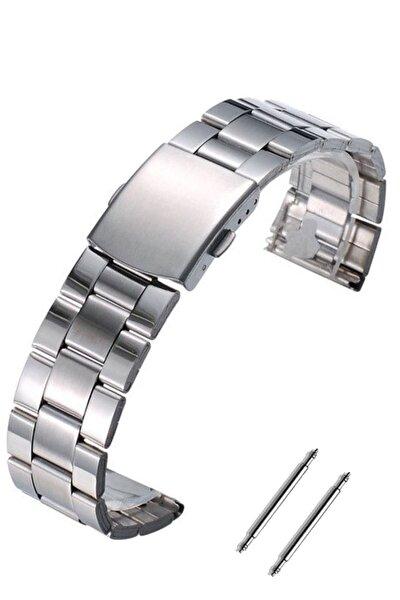 Haylou Ls02 Saat Uyumlu 20mm Gümüş Renk Paslanmaz Çelik Metal Saat Kordonu