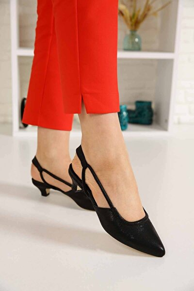 Kadın Siyah Sultan Topuklu Sandalet