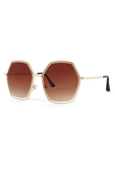 Basic Altın Kadın Güneş Gözlüğü Apss038301