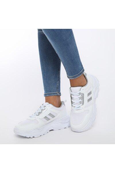 LEA W Beyaz Kadın Fashion Kalın Taban Sneaker Spor Ayakkabı 100520844