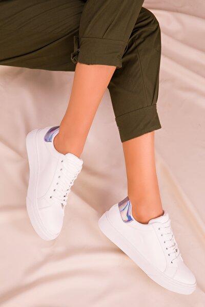 Beyaz-Neon Kadın Sneaker 14395