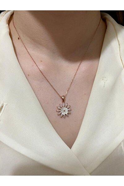 Manolya Çiçeği 925 Ayar Gümüş Kolye