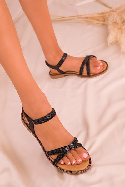 Siyah Kadın Sandalet 15936