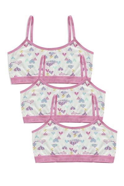 Kız Çocuk Pamuklu Alıştırma Sütyeni  42330 3'lü Paket