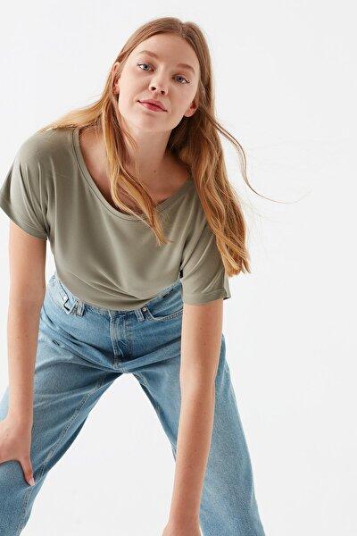 Lux Touch Haki Modal Tişört