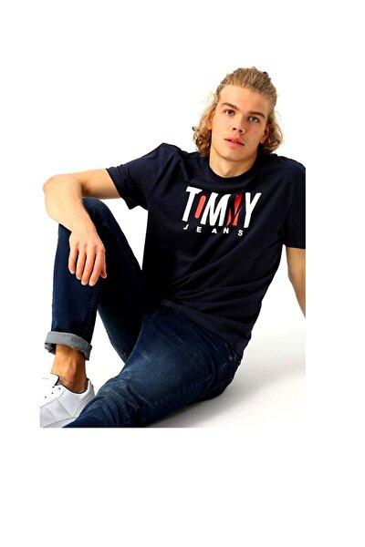 Erkek Siyah Tjm Contrast Logo Tee T-Shirt Dm0dm06508