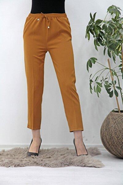Kadın Beli Lastikli Kalem Pantolon