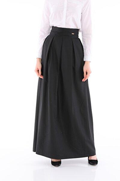 Kadın Siyah Uzun Etek