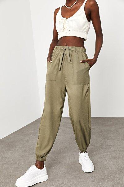 Kadın Haki Jogger Pantolon 1KZK8-11501-09