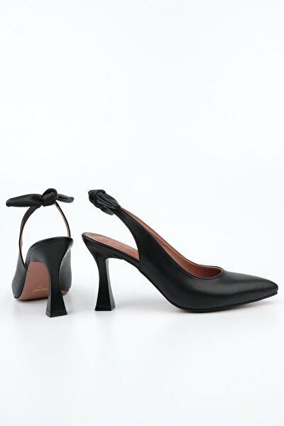 Kadın Siyah Stiletto Topuklu AyakkabıToven