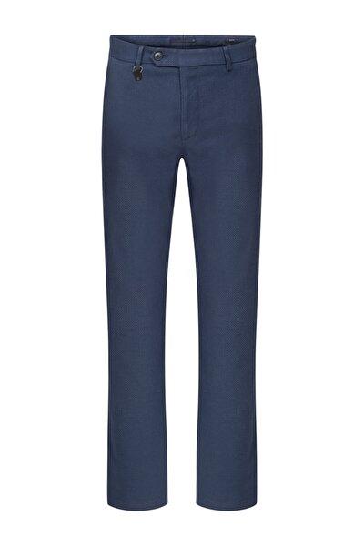 Indigo Micro Desen Chıno Pantolon