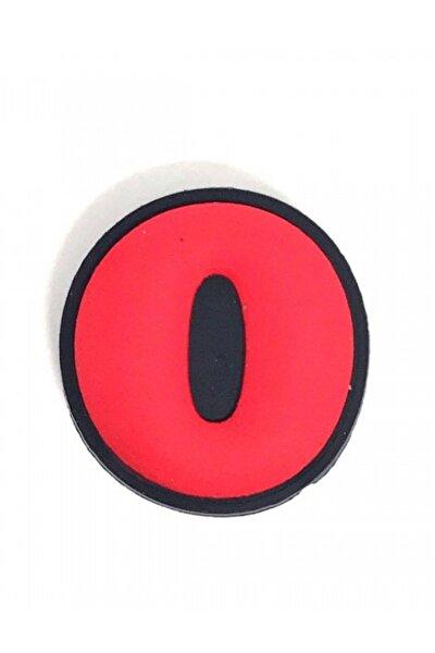 Unisex Kırmızı O Harfi Terlik Süsü