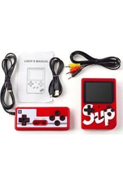 Sup Taşınabilir Video Oyun Konsolu 400 Oyunlu Mini Atari Gameboy 2 Oyunculu