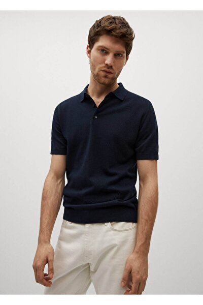 Cuadrillé Kalıplı Dokuma Polo Gömlek