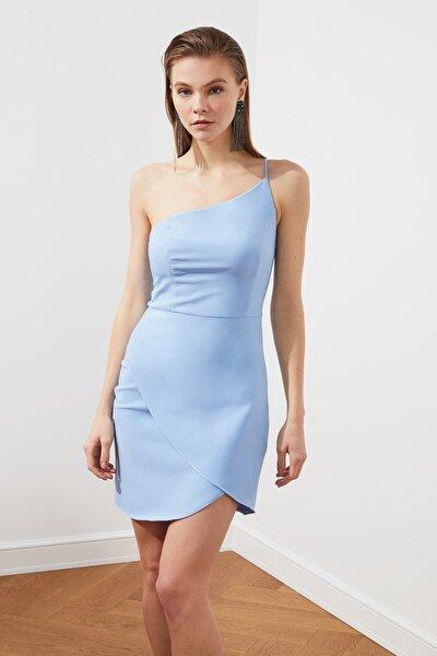 Mavi Yaka Detaylı Elbise TPRSS21EL2462