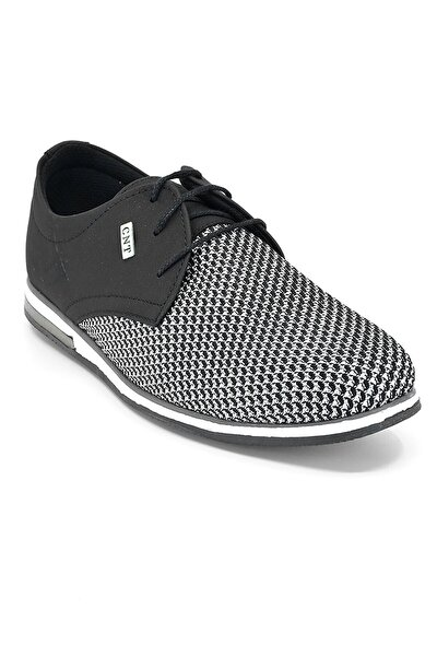 Siyah Örme Erkek Casual Ayakkabı