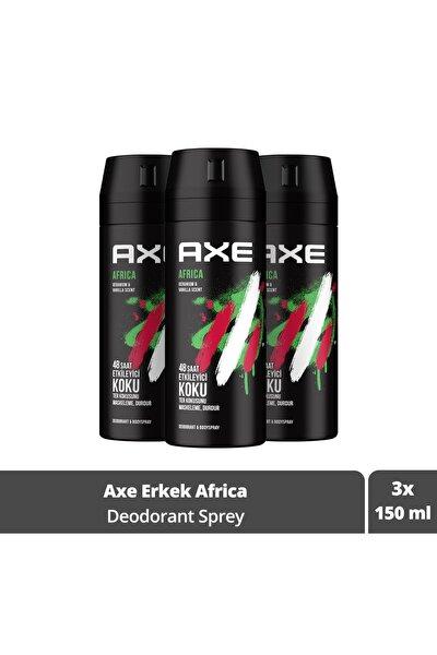 Africa Erkek Deodorant Sprey 150 ml X3