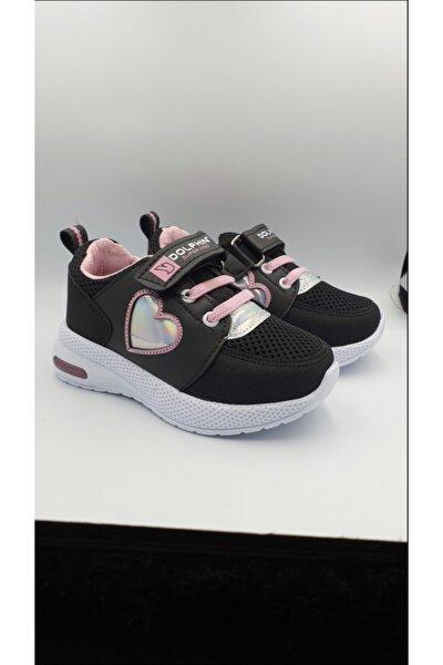 Kız Çocuk Işıklı Poli Taban Spor Ayakkabı