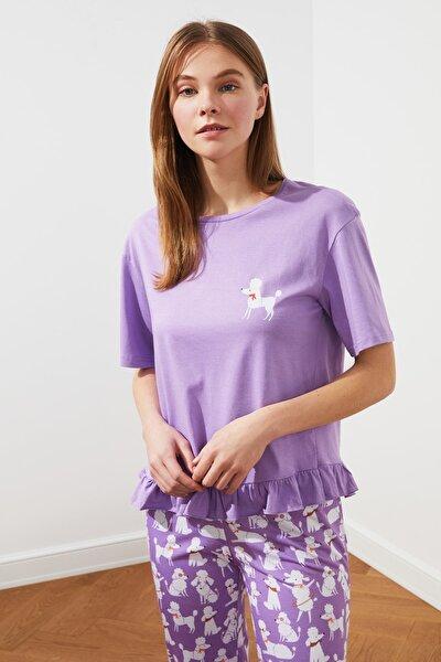 Mor Örme Pijama Takımı THMSS21PT0220
