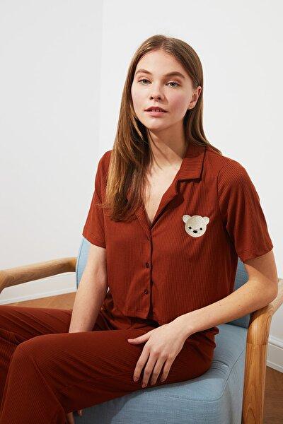 Tarçın Kaşkorse Örme Pijama Takımı THMSS21PT0168