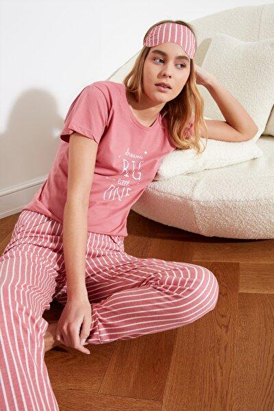 Baskılı Örme Pijama Takımı THMSS21PT0632