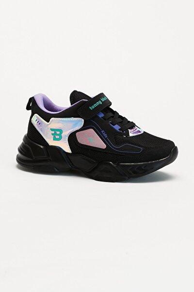 Siyah Hologram Çocuk Spor Ayakkabı Tbz31