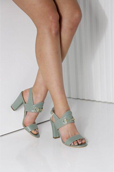 Kadın Mint Yeşili Topuklu Ayakkabı