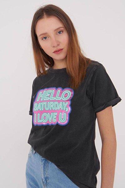 Baskılı T-shirt P12212 - X4