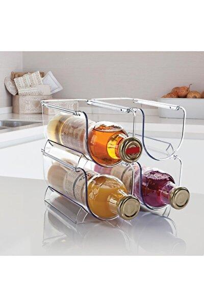 Buzdolabı Düzenleyici 2'li Şişe Rafı