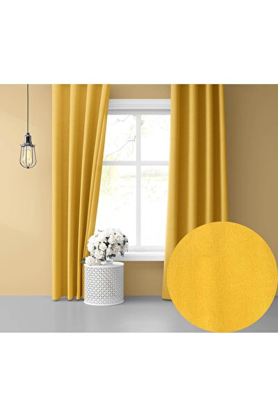 Home Daily Series Güneş Sarısı Fon Perde 150x260 cm