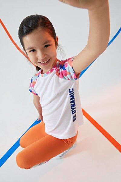 Kız Çocuk Yazı Baskılı Aktif Spor Tişört