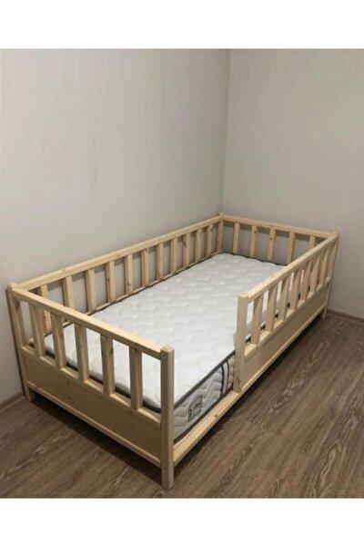 Kahverengi Roofless Montessori Bebek ve Çocuk Karyolası