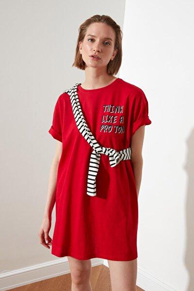 Kırmızı Örme Elbise TWOSS21EL2253