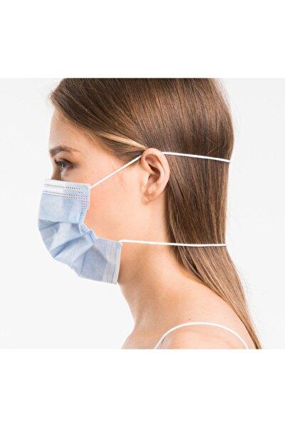 3 Katlı Kafadan Lastikli Telli Ultrasonik Maske 50 Adet