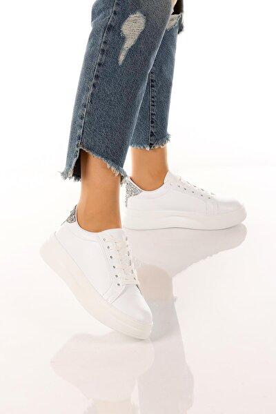 Kadın Günlük Şık Ve Rahat Bağcıklı Spor Ayakkabı Sneaker Soby11020035