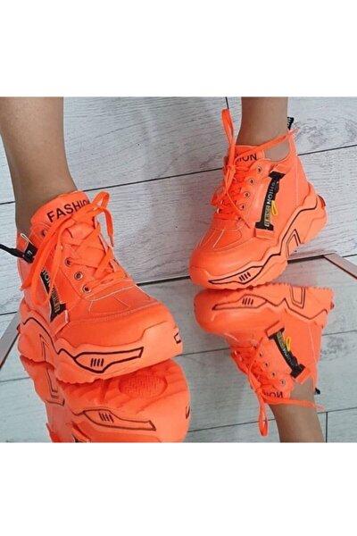 Kadın Neon Turuncu Günlük Ayakkabı