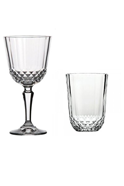Su Bardak Seti Diony Kadehli Su Bardağı Takımı 24 Parça