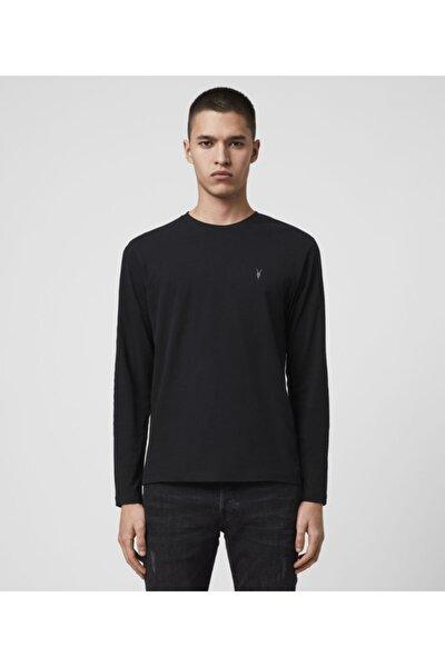 Erkek Siyah Pamuk Basic Sweatshirt