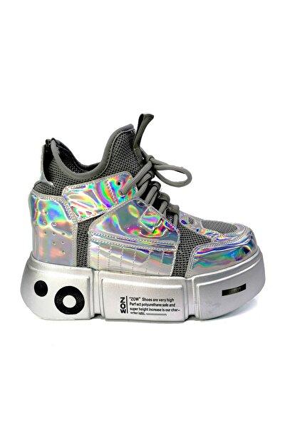 Kadın Kalın Taban Gizli Dolgu Sneaker