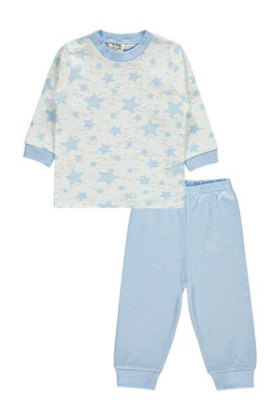 Erkek Bebek Mavi Pijama Takımı