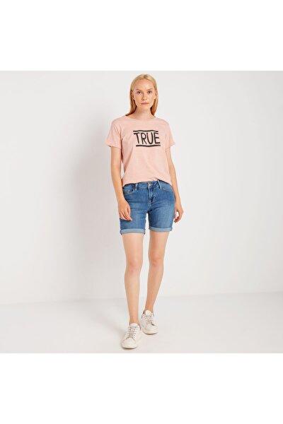 Kadın T-shirt Açık Pembe