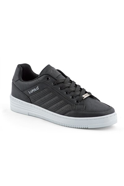 Erkek Siyah Beyaz Taban Spor Ayakkabı 06